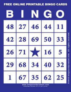 Free Online Printable Bingo Cards 6