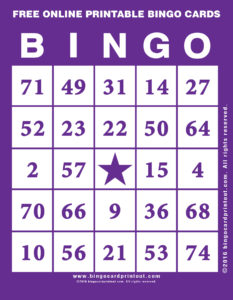 Free Online Printable Bingo Cards 7