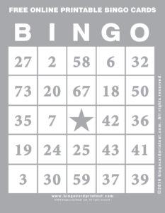 Free Online Printable Bingo Cards 9