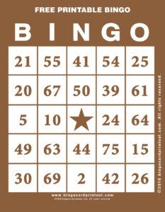 Free Printable Bingo 10