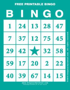Free Printable Bingo 5