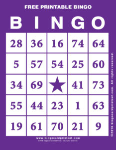 Free Printable Bingo 7