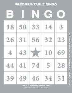 Free Printable Bingo 9
