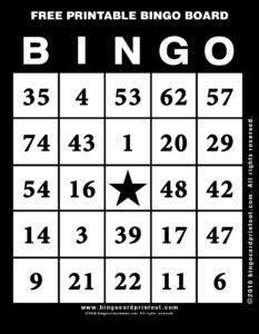 Free Printable Bingo Board 11
