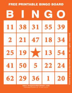 Free Printable Bingo Board 2
