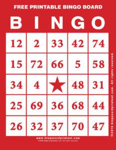 Free Printable Bingo Board