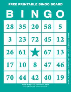 Free Printable Bingo Board 5