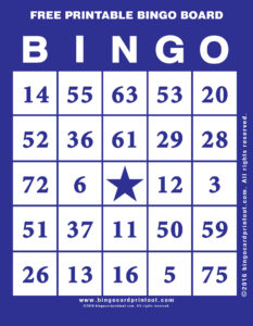 Free Printable Bingo Board 6