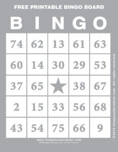 Free Printable Bingo Board 9