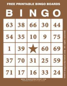 Free Printable Bingo Boards 10
