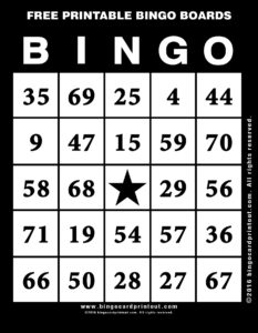Free Printable Bingo Boards 11