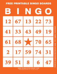 Free Printable Bingo Boards 2