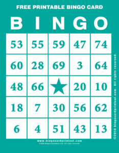 Free Printable Bingo Card 5