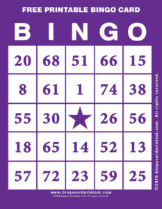 Free Printable Bingo Card 7