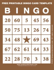 Free Printable Bingo Card Template 10