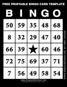 Free Printable Bingo Card Template 11