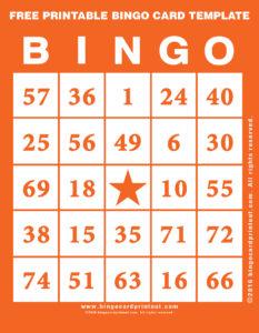 Free Printable Bingo Card Template 2
