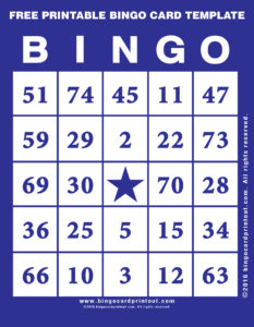Free Printable Bingo Card Template 6