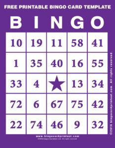 Free Printable Bingo Card Template 7