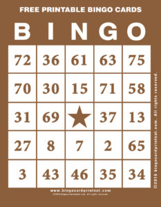 Free Printable Bingo Cards 10