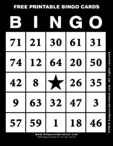 Free Printable Bingo Cards 11