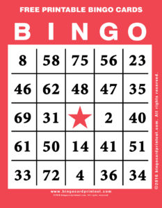 Free Printable Bingo Cards 12