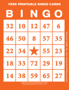 Free Printable Bingo Cards 2