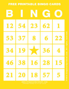 Free Printable Bingo Cards 3