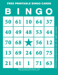Free Printable Bingo Cards 5