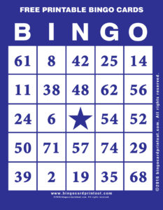 Free Printable Bingo Cards 6