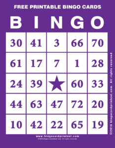 Free Printable Bingo Cards 7