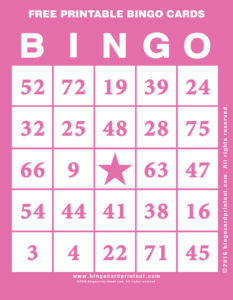 Free Printable Bingo Cards 8