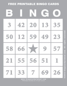 Free Printable Bingo Cards 9