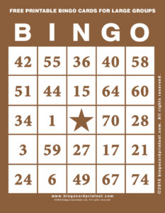 Free Printable Bingo Cards For Large Groups 10