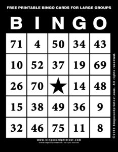 Free Printable Bingo Cards For Large Groups 11