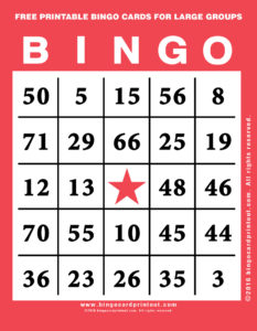 Free Printable Bingo Cards For Large Groups 12