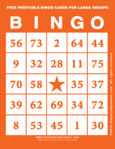 Free Printable Bingo Cards For Large Groups 2