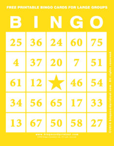 Free Printable Bingo Cards For Large Groups 3