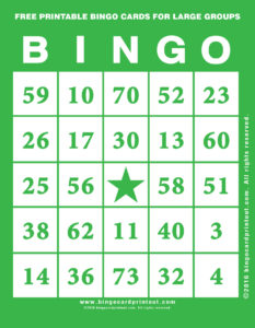 Free Printable Bingo Cards For Large Groups 4