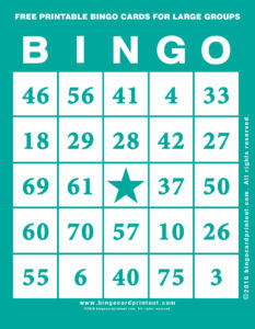 Free Printable Bingo Cards For Large Groups 5