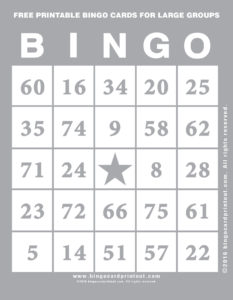 Free Printable Bingo Cards For Large Groups 9