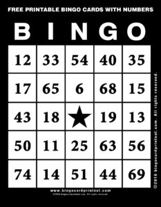 Free Printable Bingo Cards With Numbers 11