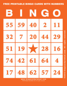 Free Printable Bingo Cards With Numbers 2