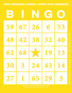 Free Printable Bingo Cards With Numbers 3