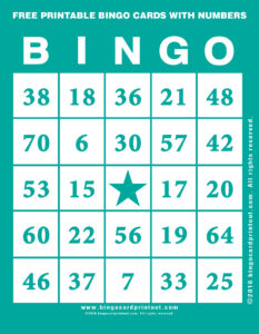 Free Printable Bingo Cards With Numbers 5