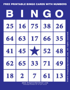 Free Printable Bingo Cards With Numbers 6