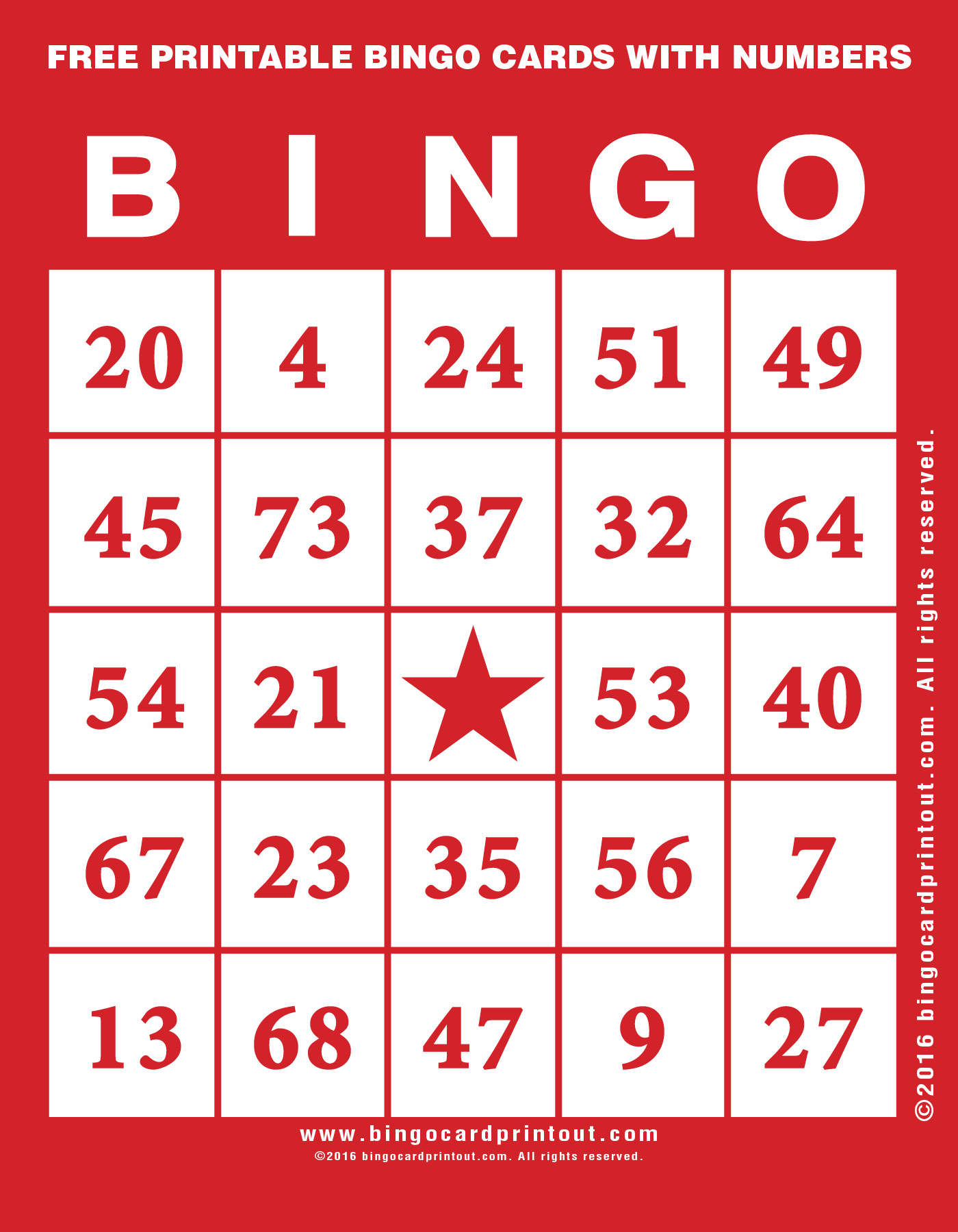 picture regarding Free Printable Bingo Cards With Numbers titled Free of charge Printable Bingo Playing cards With Figures -