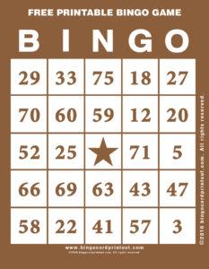 Free Printable Bingo Game 10