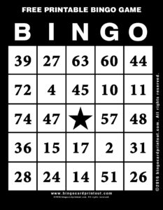 Free Printable Bingo Game 11