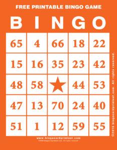 Free Printable Bingo Game 2
